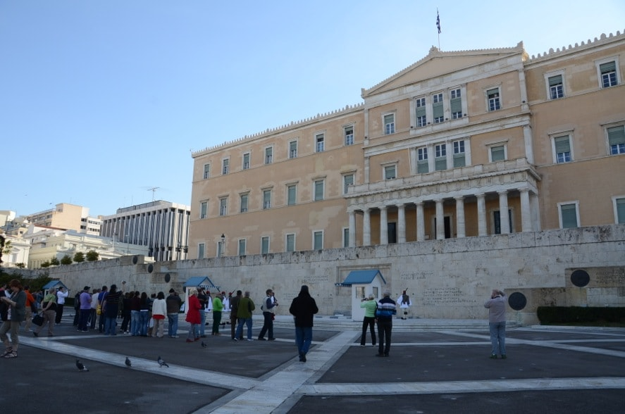Parliament (former King's Palace) at Syntagma square is 3 minutes walking from the apartment