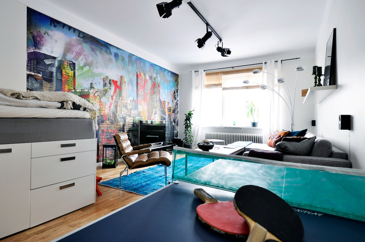 Modern and homely studio/apartment in Stockholm, Södermalm, SoFo.
