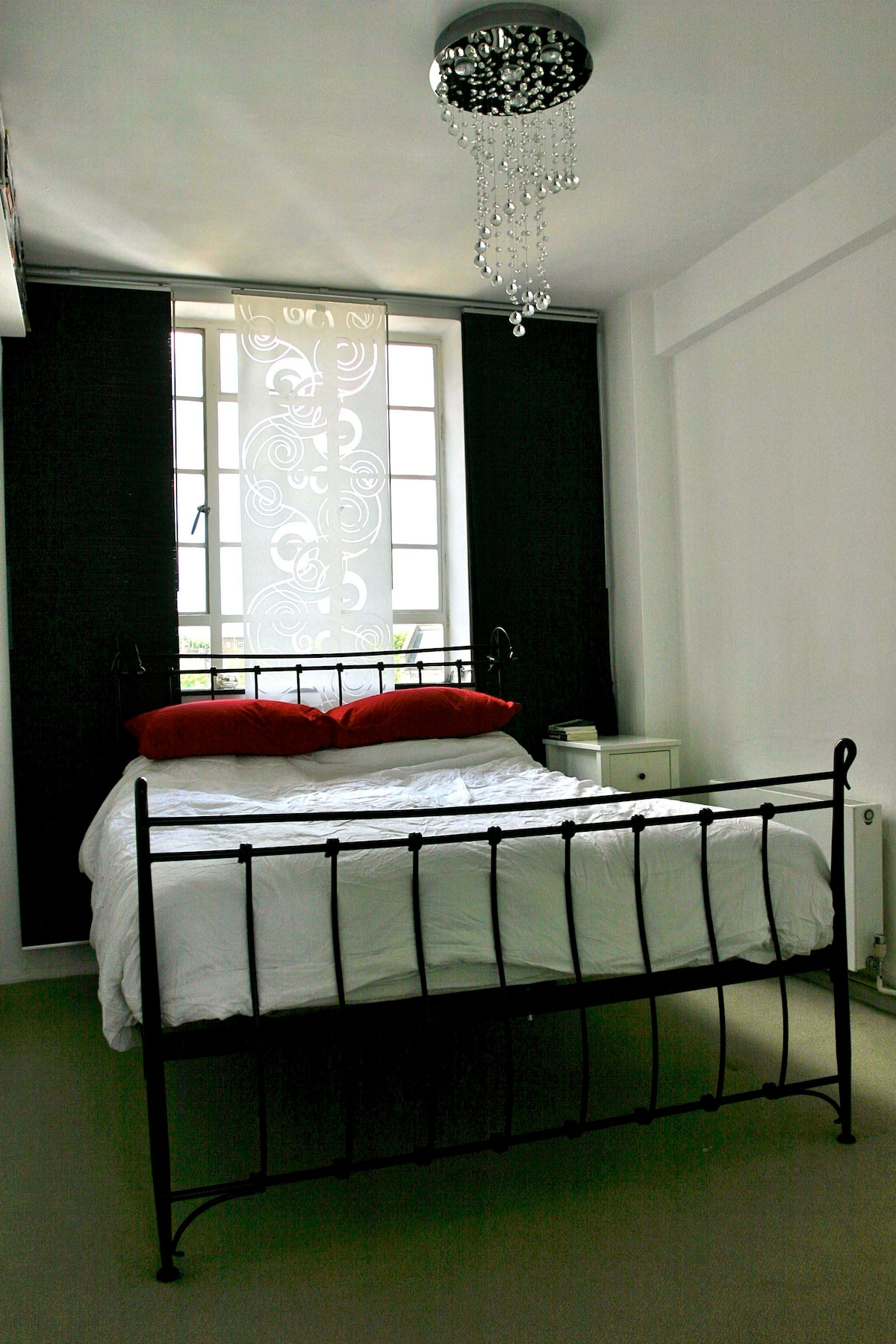 Master bedroom has a sumptuous super king size iron bed, plus fitted wardrobe. Second bedroom is the same size and has a large new single sofa bed