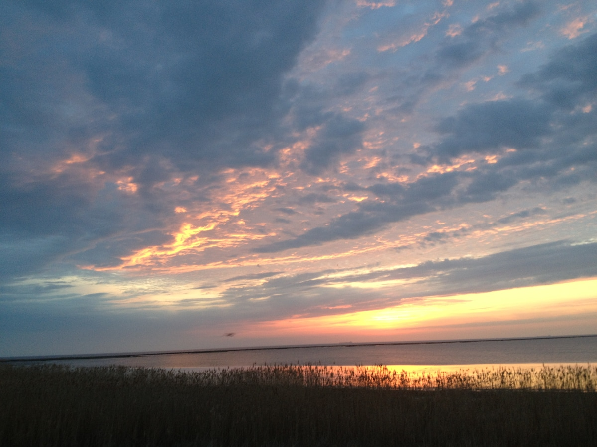 sunrise on the Delaware Bay...