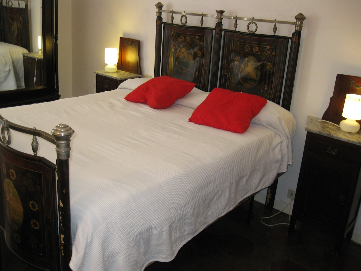 """19th century king's size """"painted  bed """""""