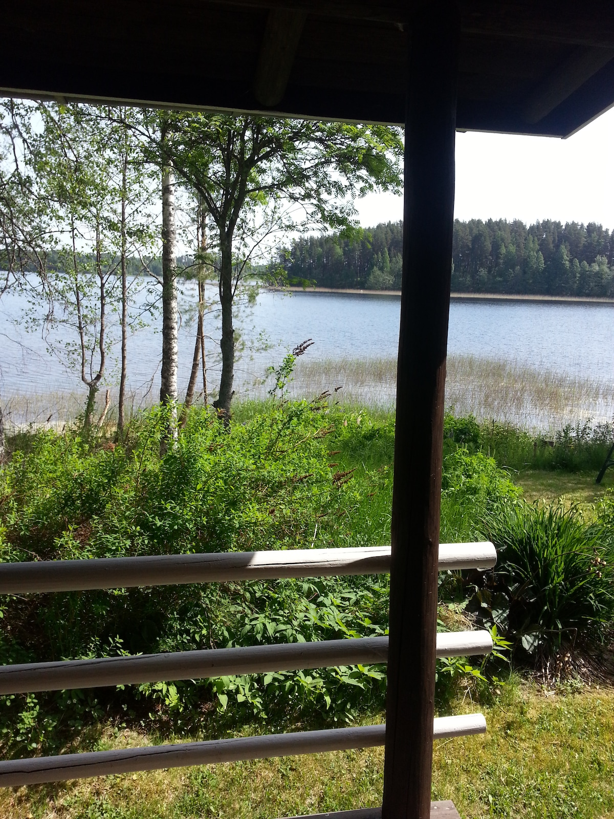 The view from the porch of the cabin