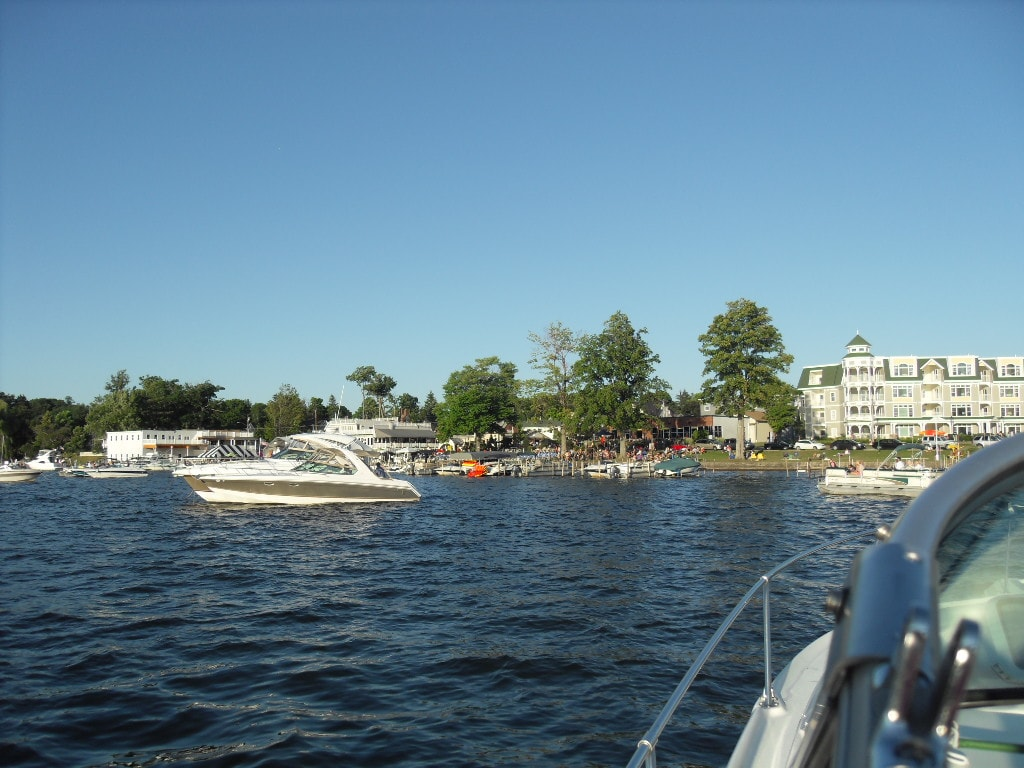 View from boat on  Chautauqua Lake 5 minutes away