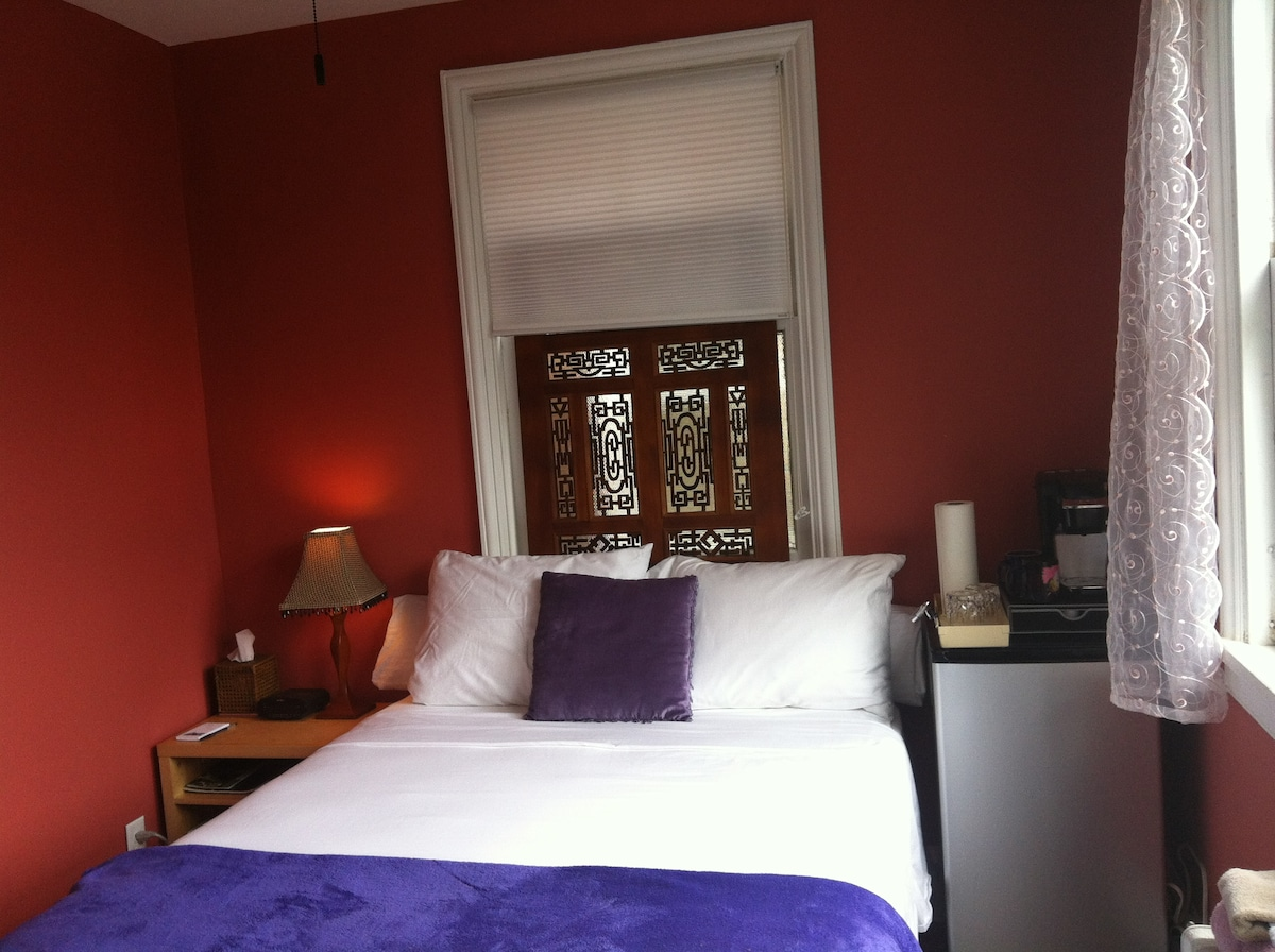 Relaxing Room in Cool Carytown RVA! Our guests tell us they love the room.