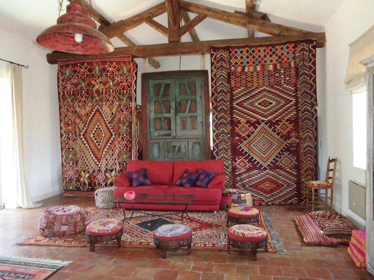 Loft, salon avec canapé lit