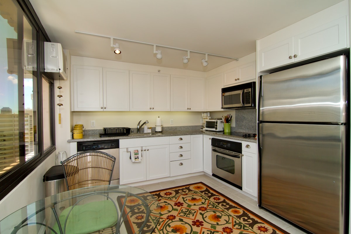 Naturally lit kitchen with all the amenities you need.