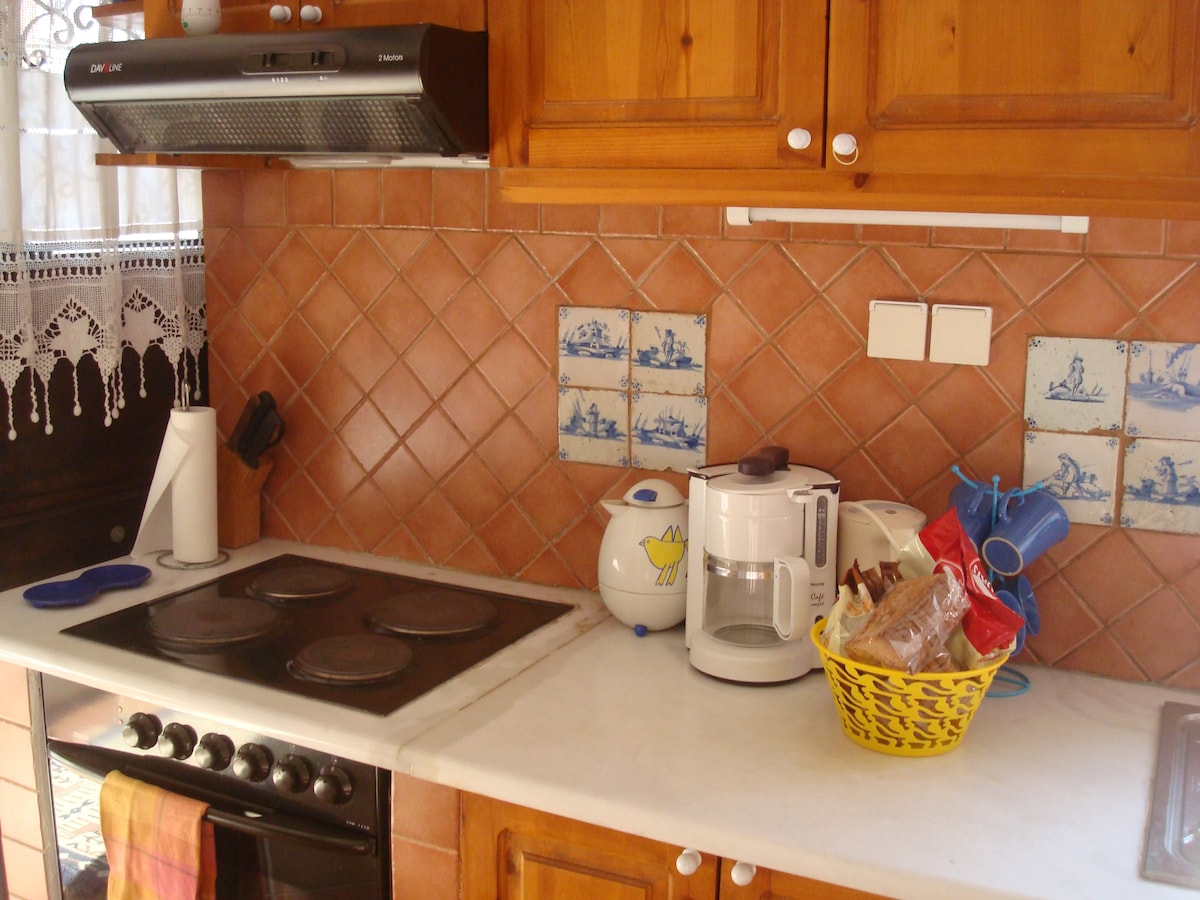 Kitchen in guesthouse