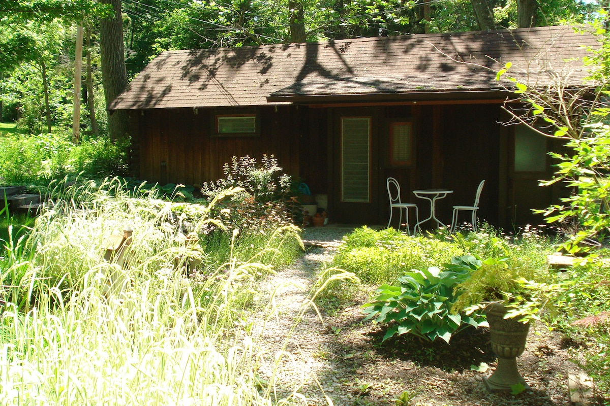 View of Rain Garden/Pond in front of the Guest House
