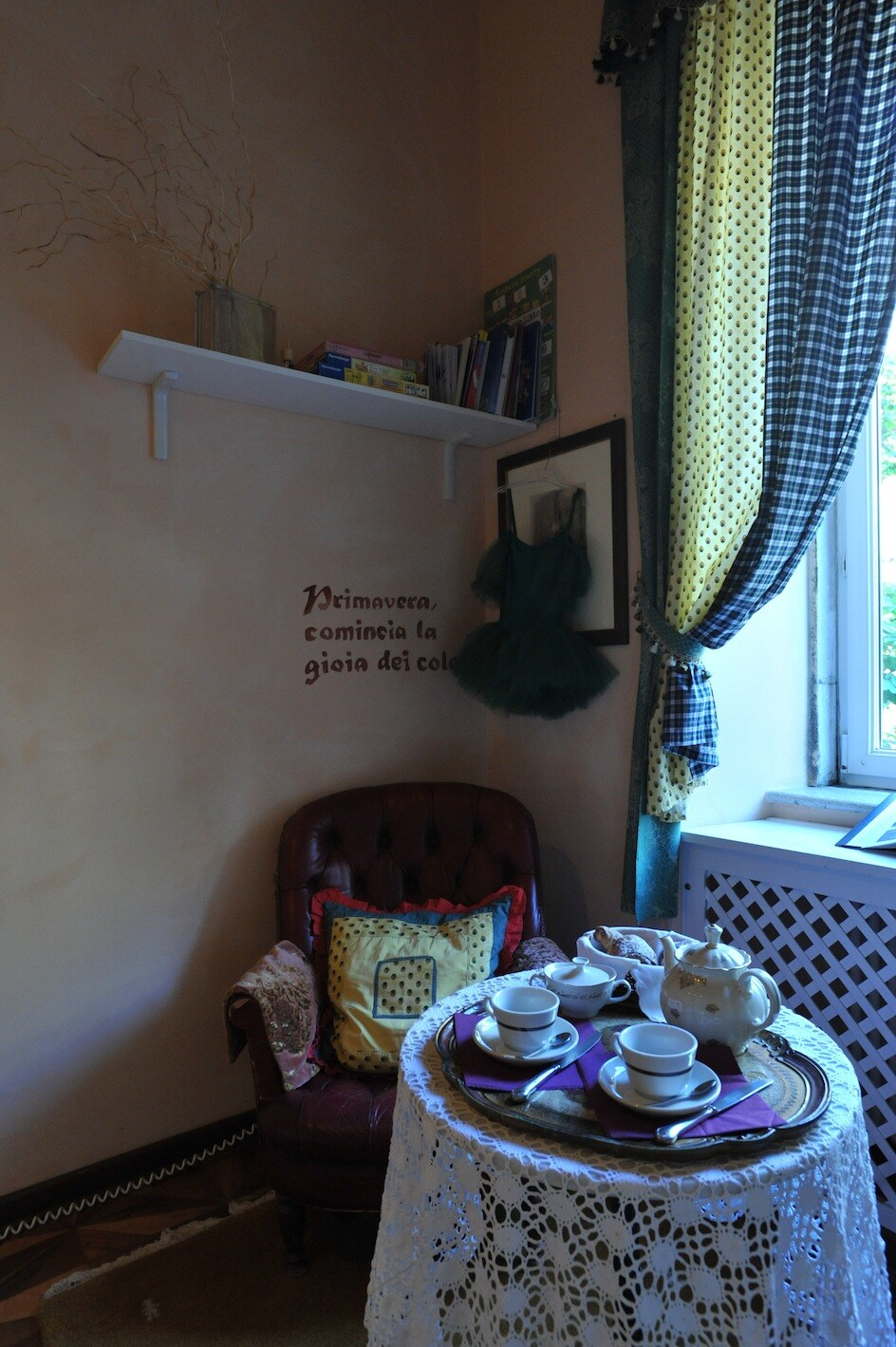 Una pausa tranquilla per il tè