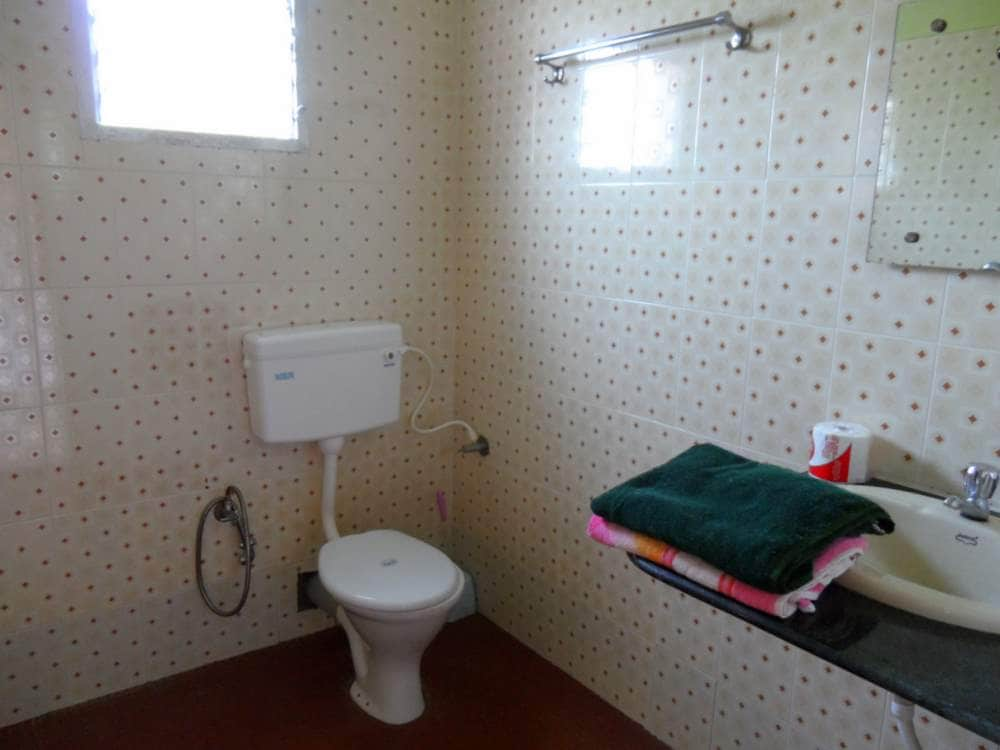 Western style toilet in all accommodations