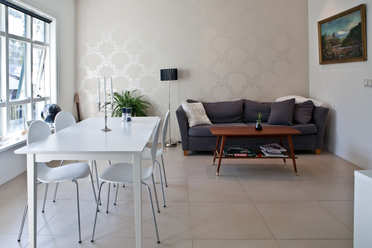 Living room - dining room table and sofa