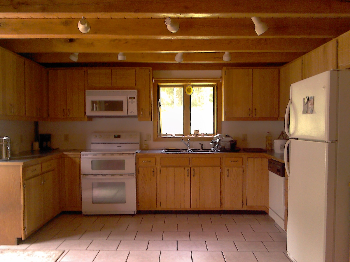 Well equipped kitchen with plenty of counter space.