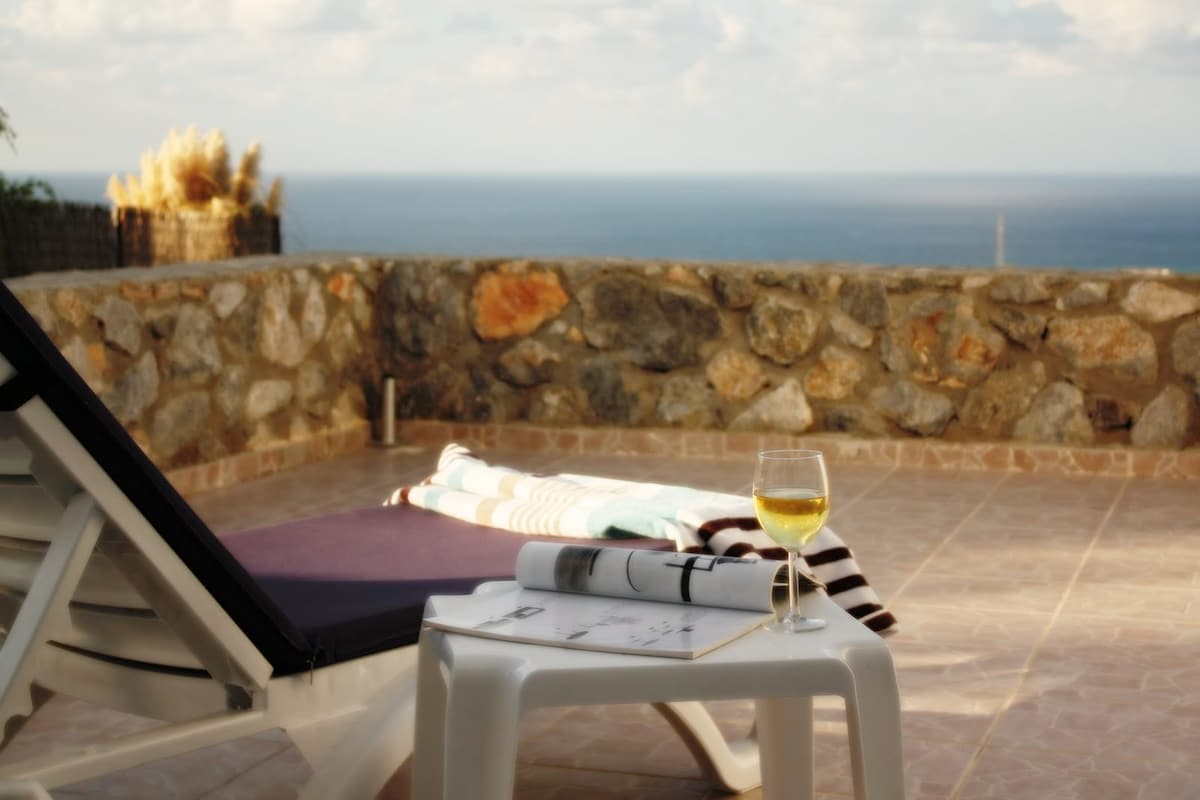 Large balcony and sea- perfect for breakfast or lunch