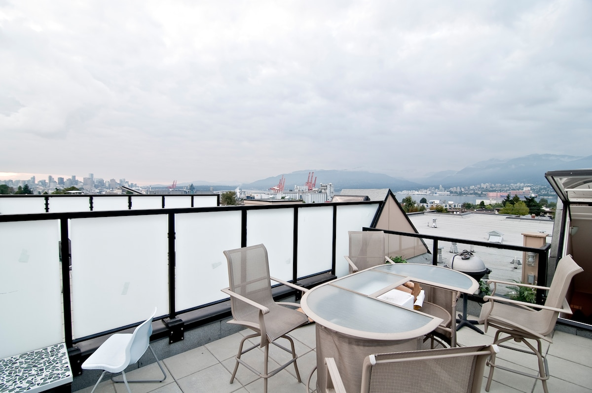 Furnished penthouse with terrace