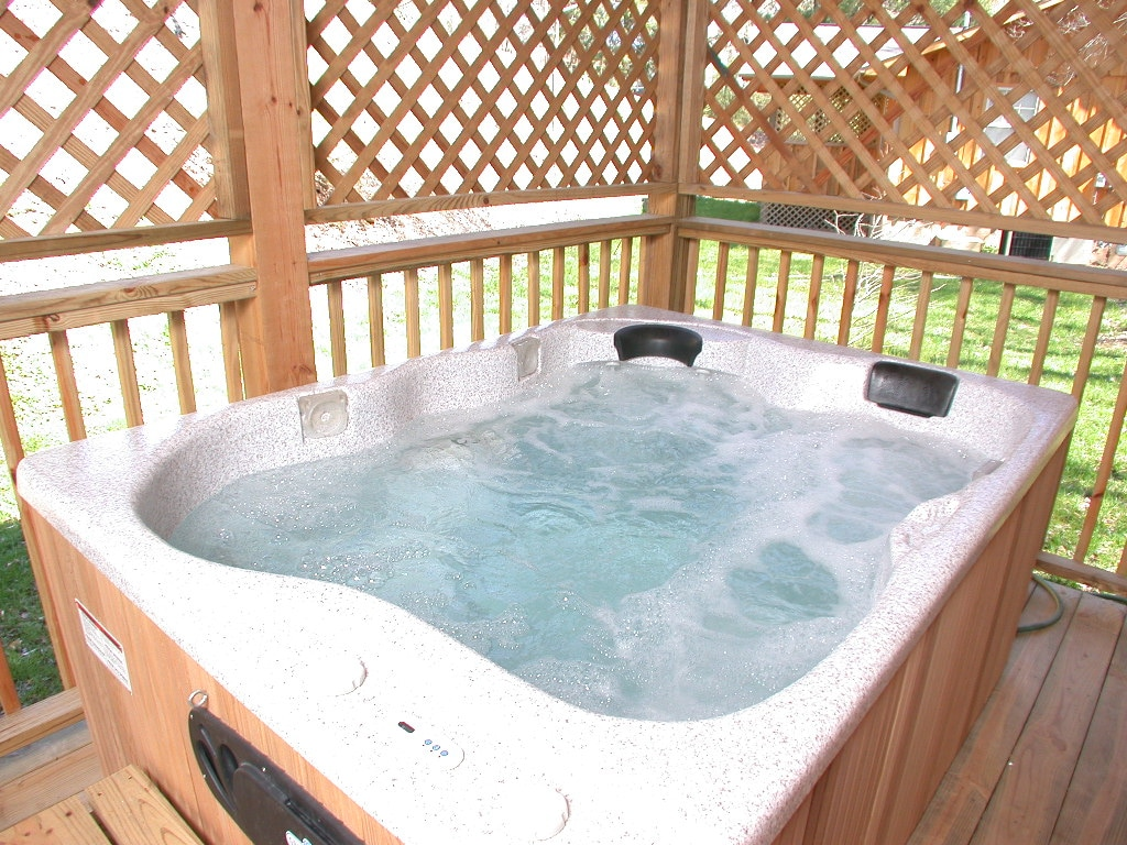 Enclosed Hot Tub on deck