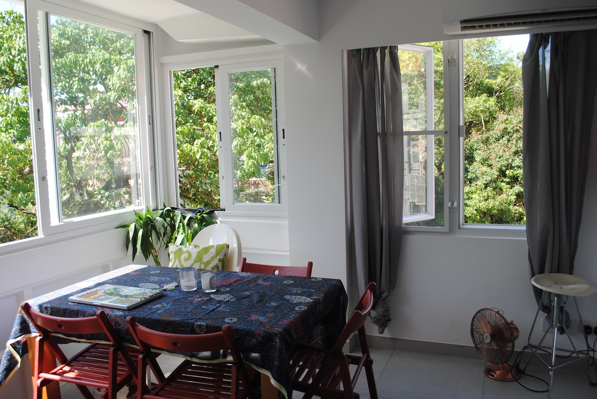 Surround windows for lots of natural light and greenery