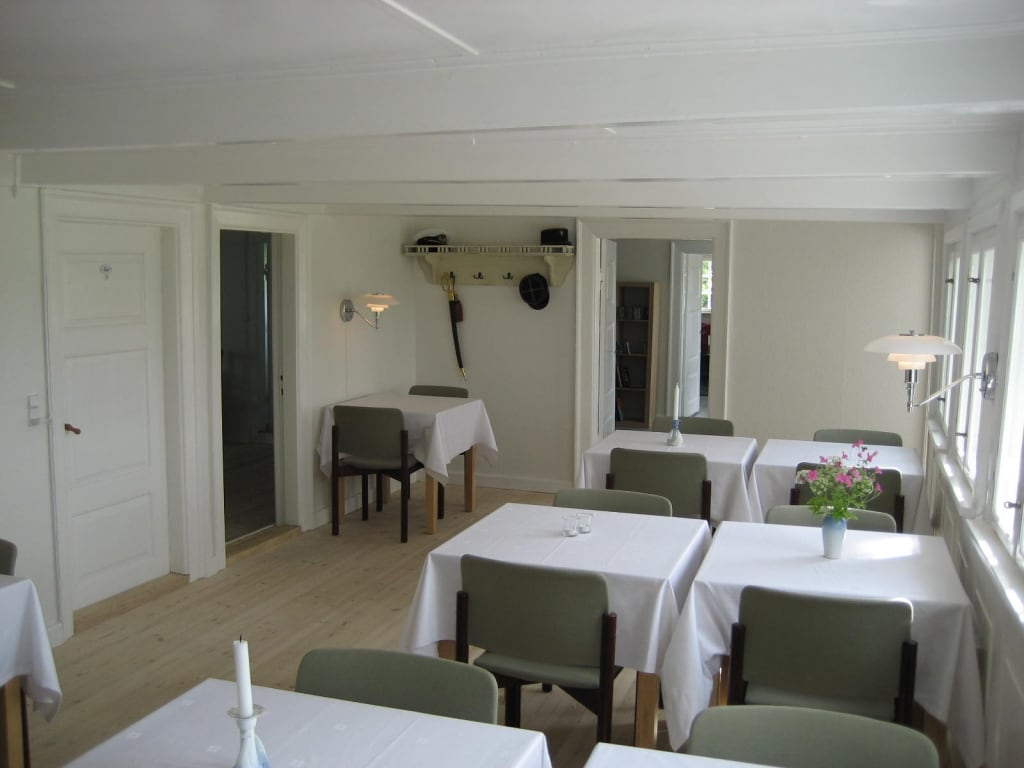 The dining room for breakfast
