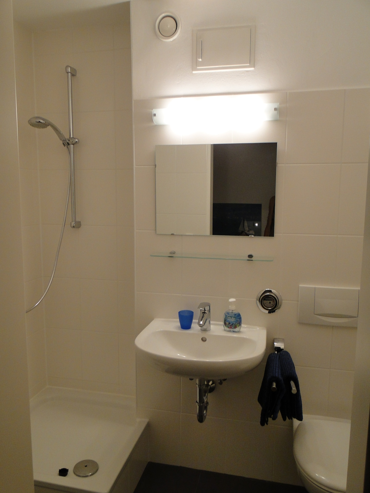 Your Private New Bathroom with High Glass Fronted Shower Cabin