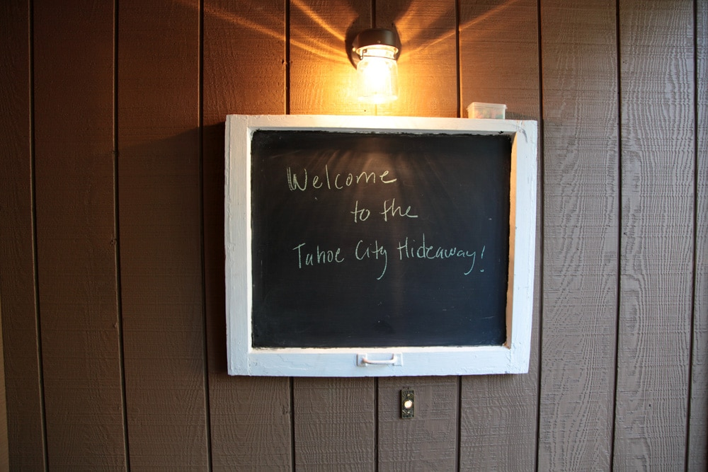 When you arrive, we'll leave you a note on the chalkboard. Feel free to leave one for us  too!