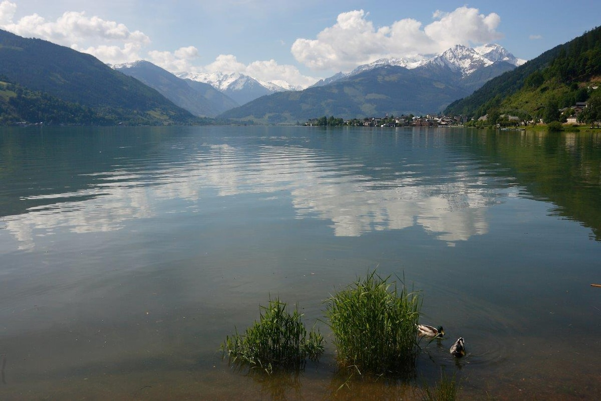 the lake Zeller See in front of our house/ Zeller See