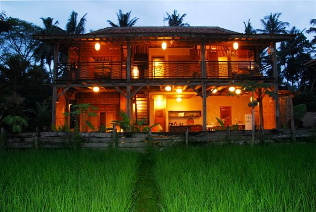 The Mainhouse, viewed from the ricefields