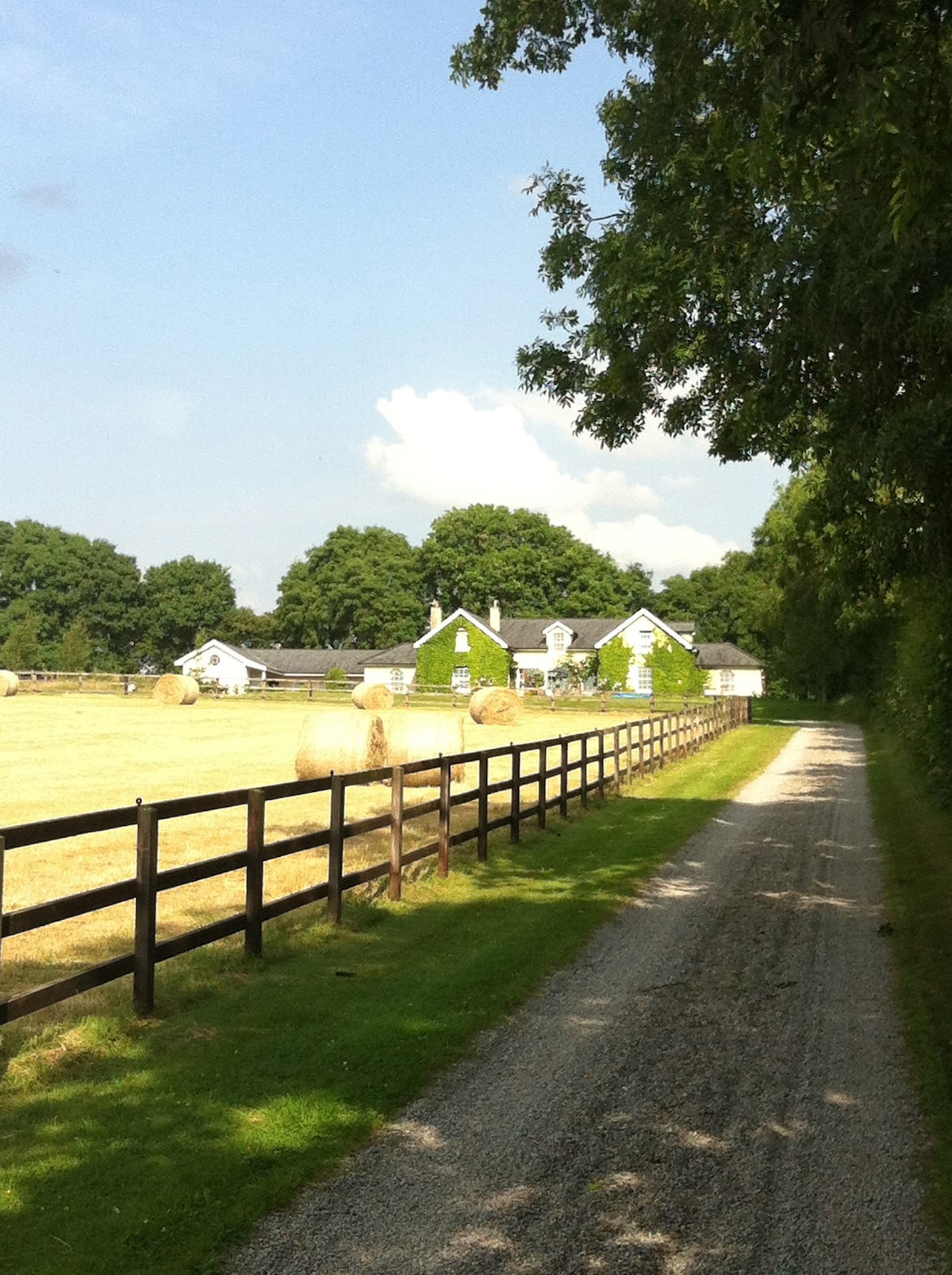 Our place.. stable block on left.