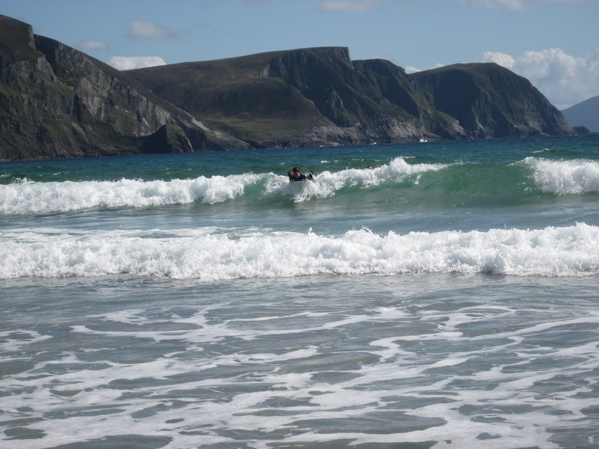 Surfing at Achill Island