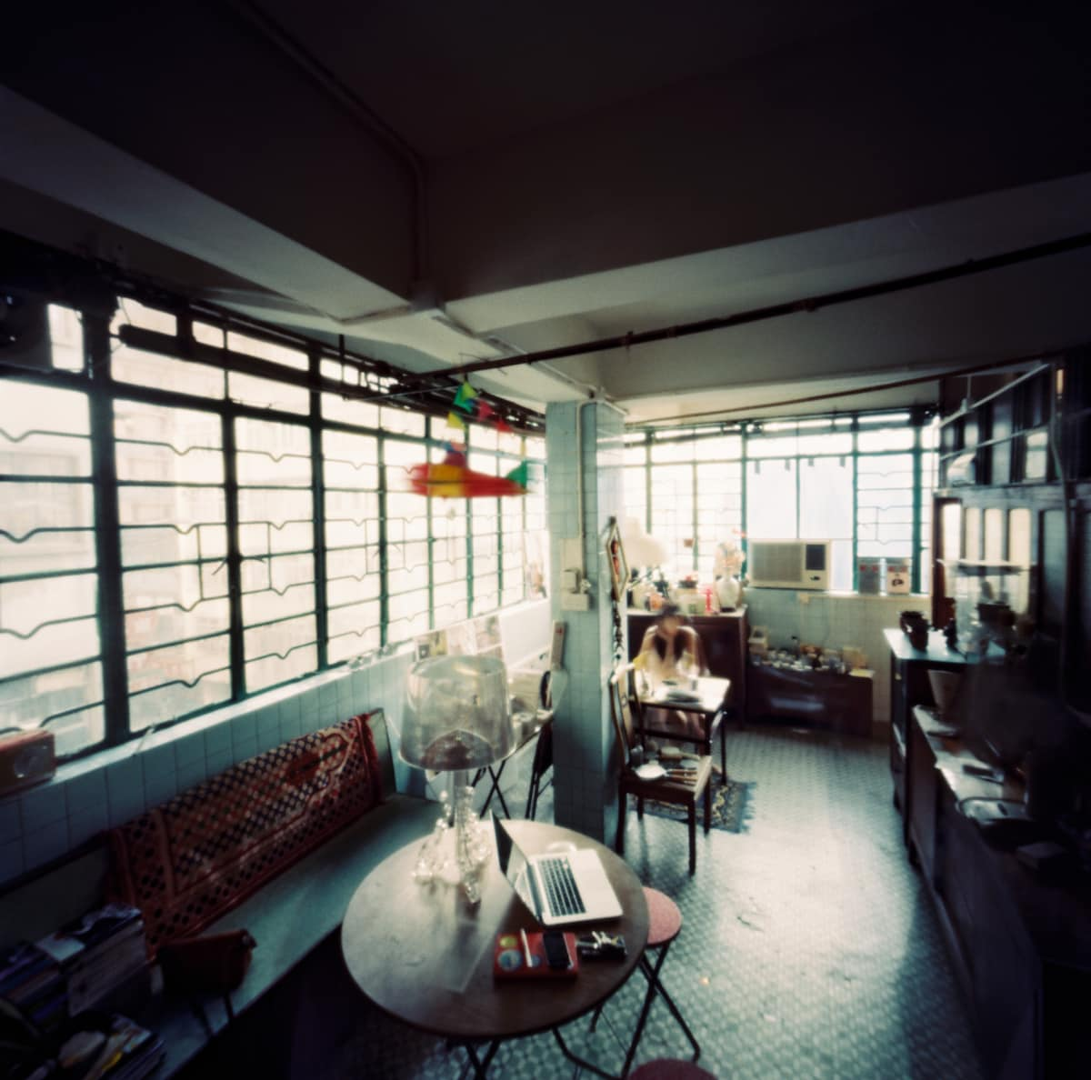 SSS studio space. Pinhole photo by Martin Cheung