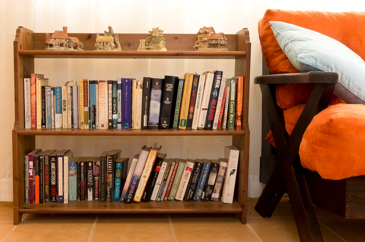 Need somethig to read while you are relaxing? These are a few of our books. We've got a great big library for you.