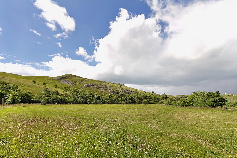 The field - you can see this from your lounge window. This was taken in July just after our traditional hay meadow was cut
