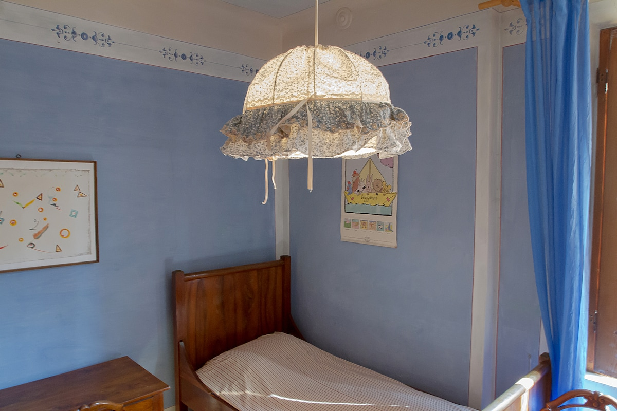 blue room in historical centre