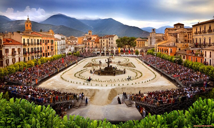 Giostra Festival in main square of Sulmona in July