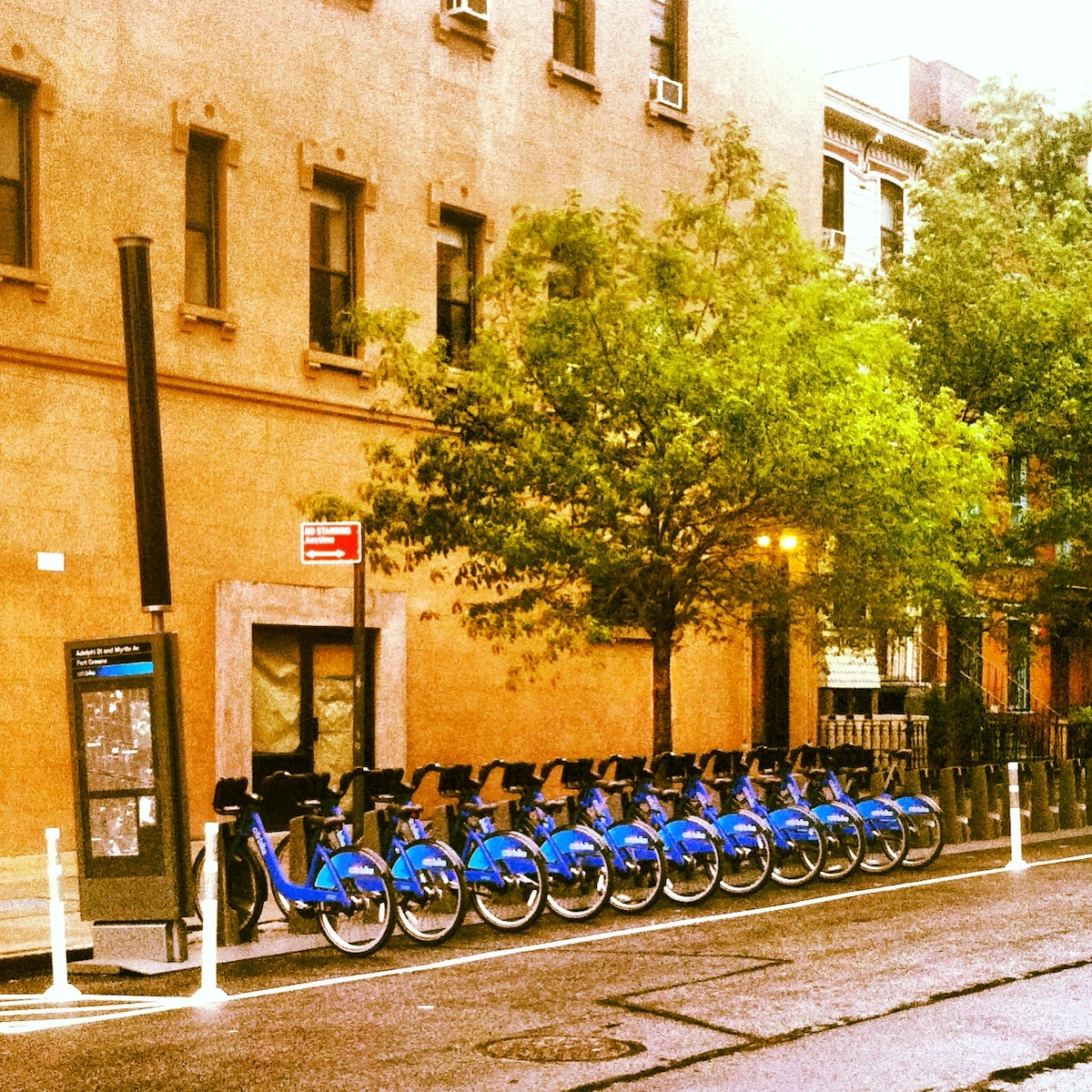 CITI BIKES IS RIGHT OUTSIDE MY BUILDING