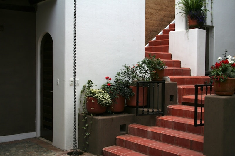 Stairs to the second floor.