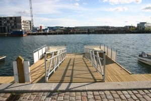 the apartment is only 100 yards from the harbour side - and yes you can swim...