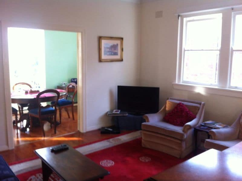 Lounge room to dining room