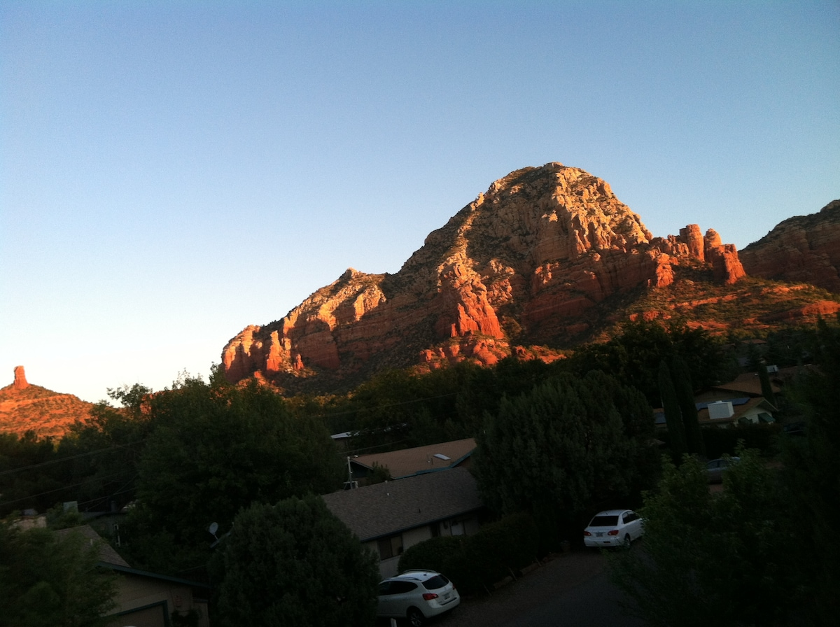 This is the view from the front deck. Isn't is gorgeous?