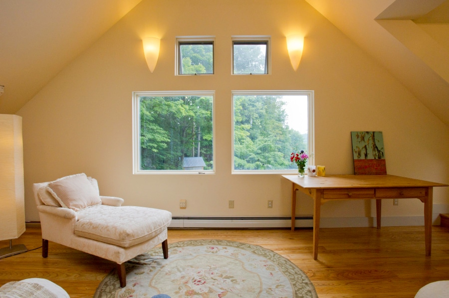 Living room - dining room (or home office) with private entrance