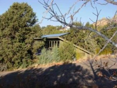 This is a Solar Home..kind of blurry side view from Mission (website hidden) is a private sanctuary...