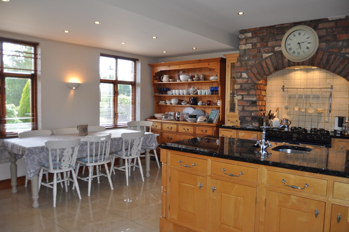 Breakfast and evening meals served in our large open kitchen