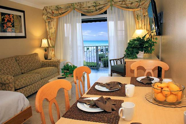 Dining area and Living Room - Pool Deck suite only available during Daytona 500 week