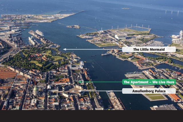 Location, location, location - Peaceful flat at the heart of Copenhagen's royal harbour district.
