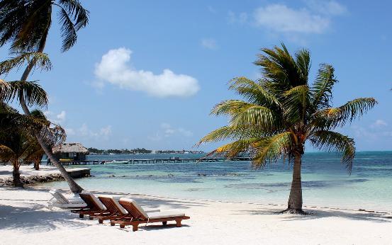 The beautiful island of Caye Caulker.
