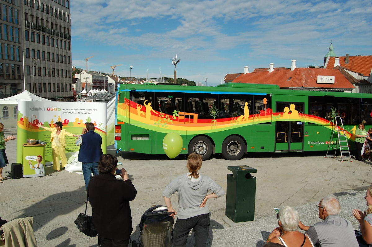 Bus # 1 from Stavanger downtown every 8 min