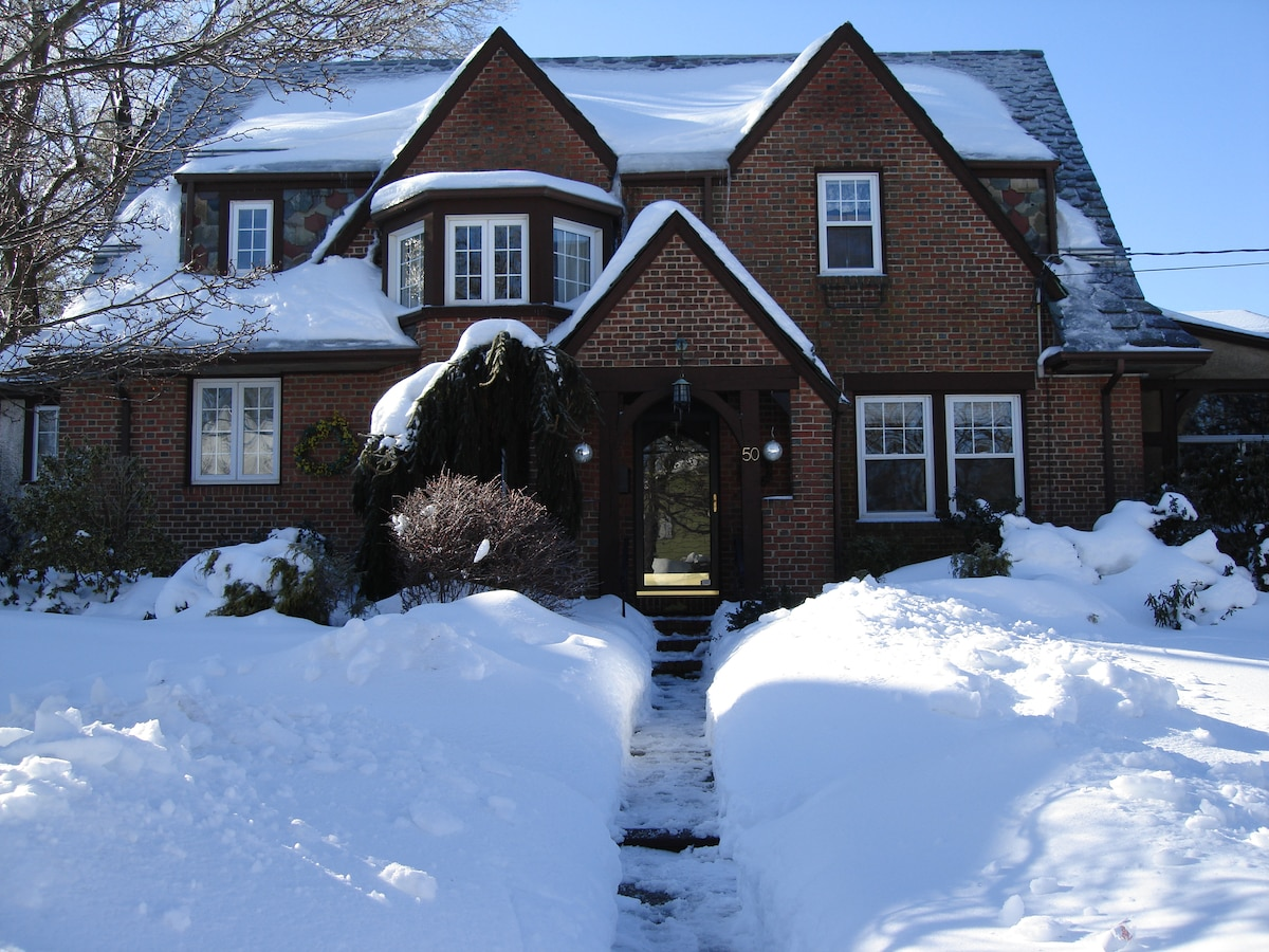House after a snow storm.
