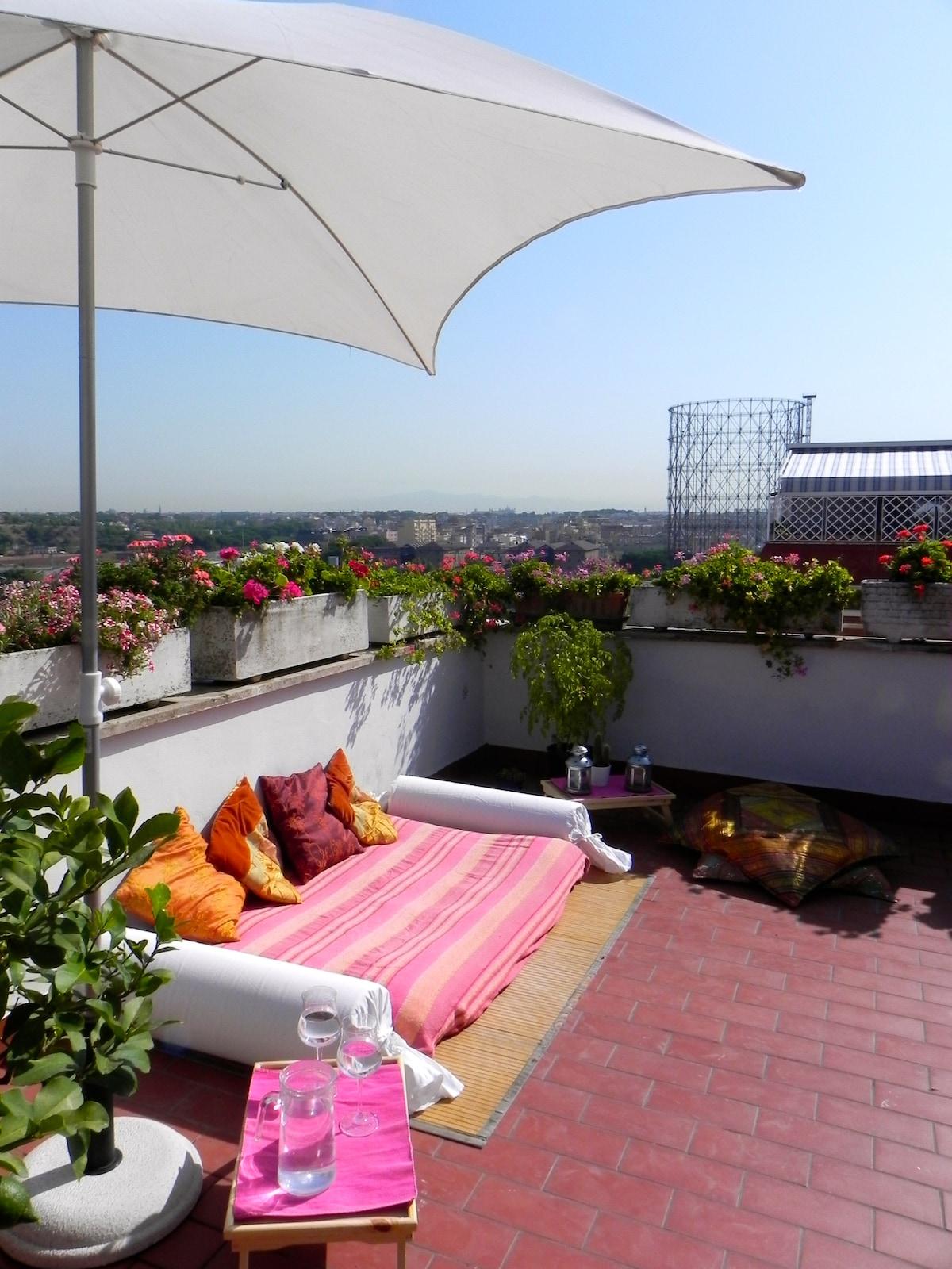 Lovely penthouse facing Gazometro!