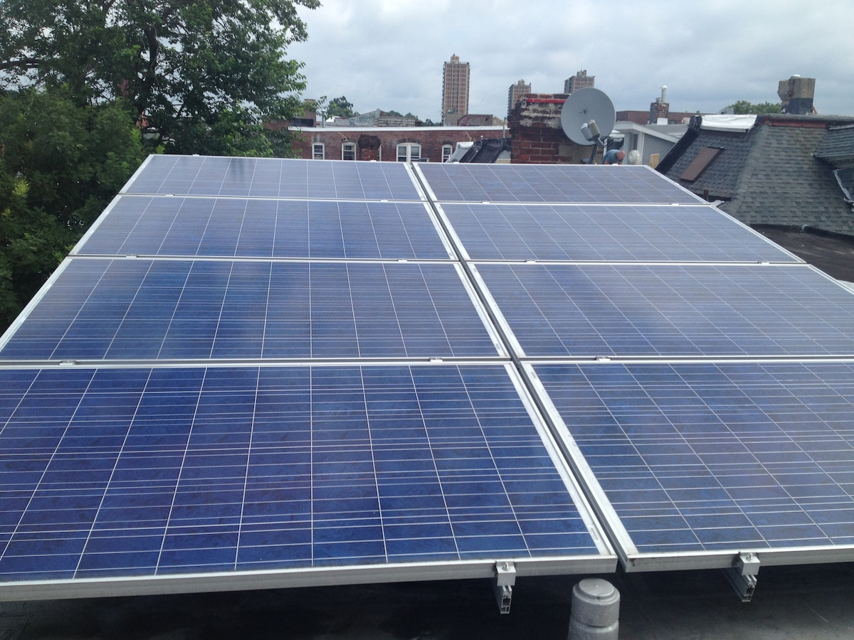 Our Solar Array produces almost all of our electricity needs