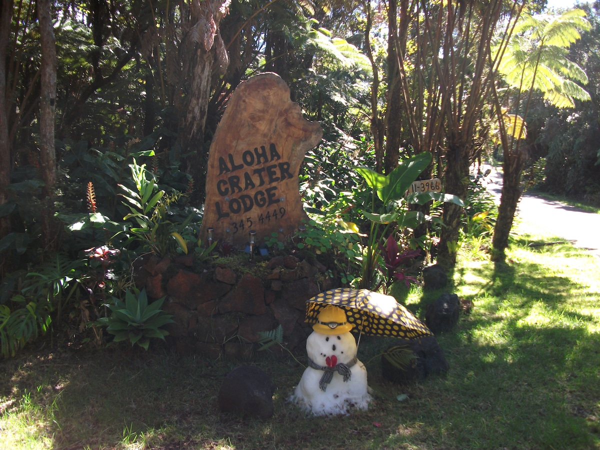 Aloha Crater Lodge and Lavatube Tour