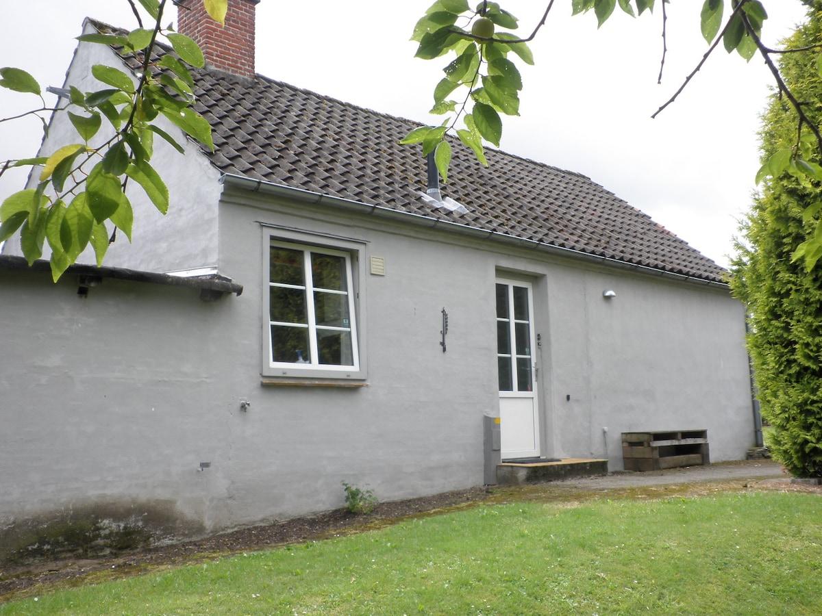Husets nordside med indgang