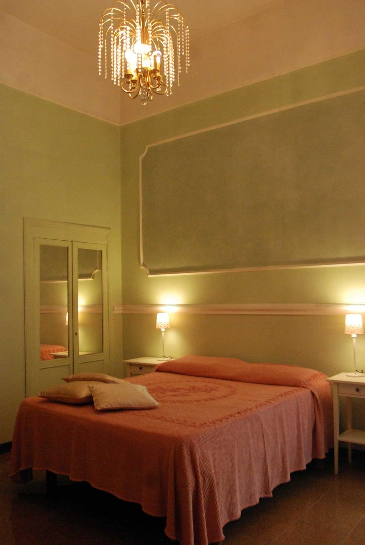 camera matrimoniale con letto ortopedico, bagno in camera, scrivania, internet wi fi, spaziosa e silenziosa
